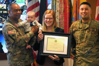 21st TSC civilian logistician becomes first in Europe to complete logi...
