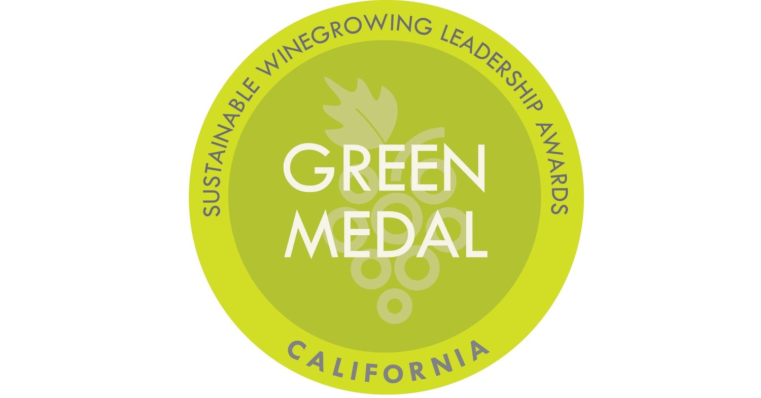 The California Green Medal: Sustainable Winegrowing Leadership Award Recipients have been announced.