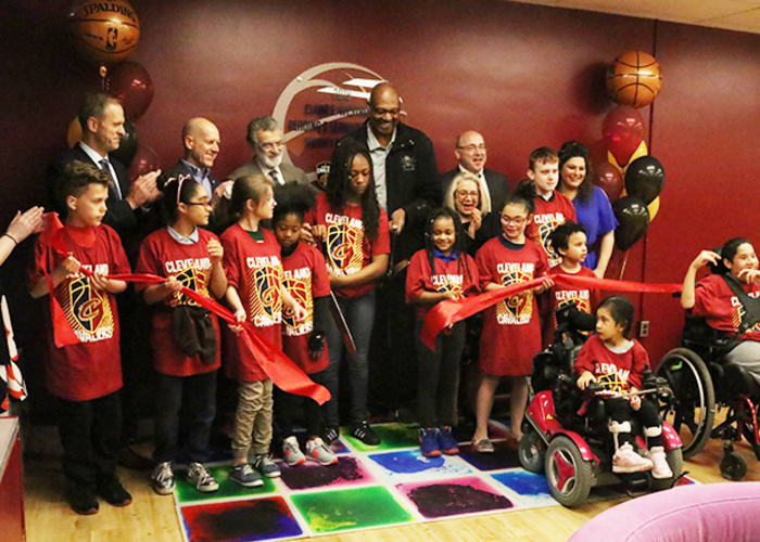 Cavs and Sherwin-Williams Open New Sensory Room at CMSD School