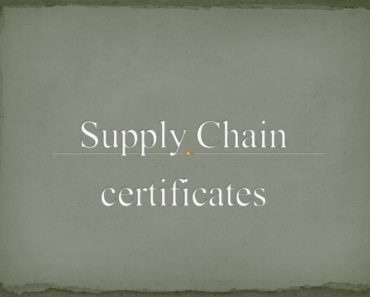 Supply Chain certificates