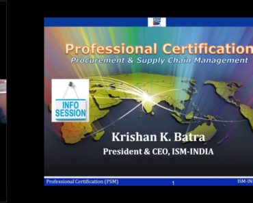 Procurement & Supply Chain Management (PROFESSIONAL CERTIFICATION)