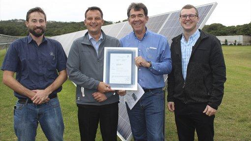 South African solar tracker receives international certification